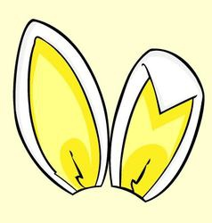 lemon bunny ears vector image