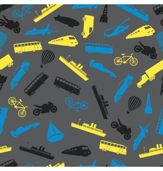 means of transport colorful pattern eps10 vector image