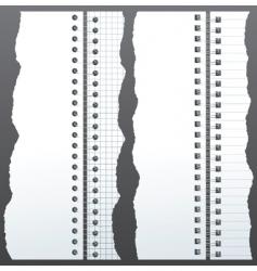 Notebook binder vector