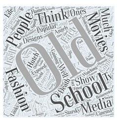 Old school fashion word cloud concept vector