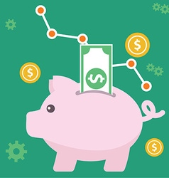 Piggy bank money and finance vector image