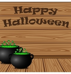 Pot with a potion witch vector image vector image