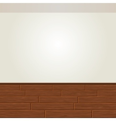 Realistic Wood Floor and White Wall vector image