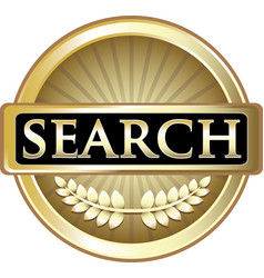 Search gold icon vector