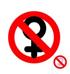 Stop women It is forbidden to be woman Frozen vector image vector image
