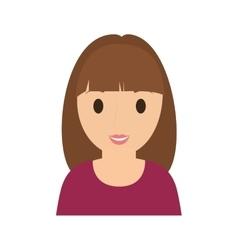 teen girl character avatar vector image