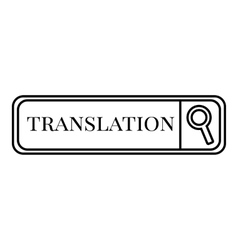 Translation search icon outline style vector