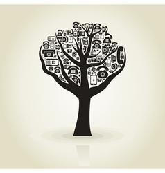 Tree phone vector image vector image