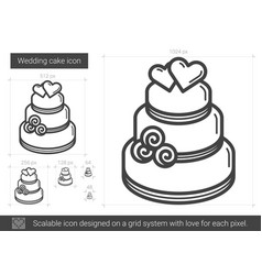 Wedding cake line icon vector
