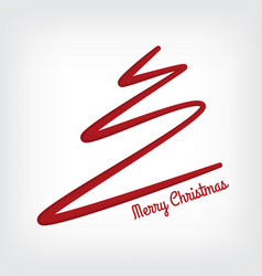 White abstract merry christmas tree line paper cut vector