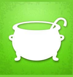 witch cauldron applique background vector image vector image