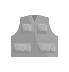 Hunter vest icon black monochrome style vector