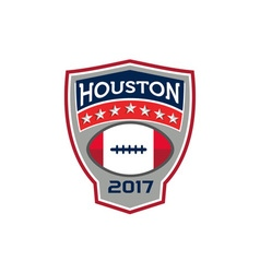 Houston 2017 american football big game crest vector