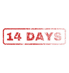 14 days rubber stamp vector
