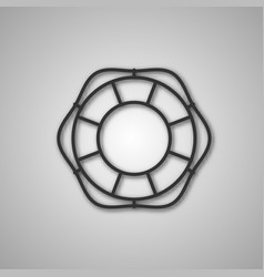 Gray icon lifebuoy vector