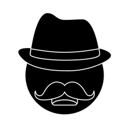 hat and mustache design vector image