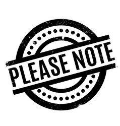 Please note rubber stamp vector