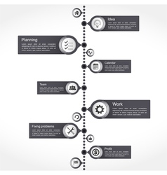 Timeline Design Template vector image