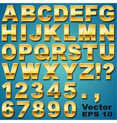 Gold letters and numbers vector