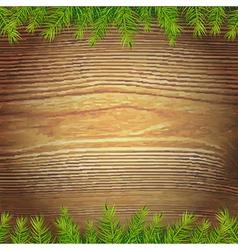 Xmas Wood Background vector image