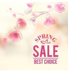 Spring sale and flowers vector image