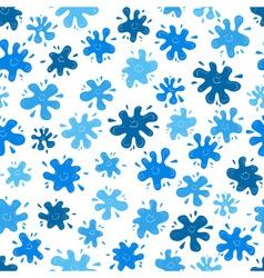 Smiling ink blots seamless pattern vector image
