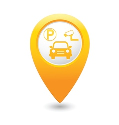 parking place yellow map pointer vector image