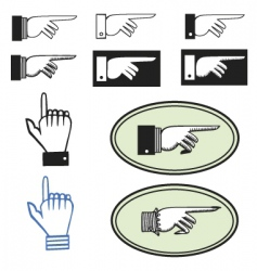 pointing hands vector image