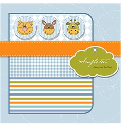 Childish greeting card vector