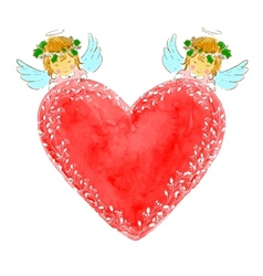 Red heart vector image