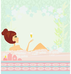 Pretty girl enjoying elegant spa vector