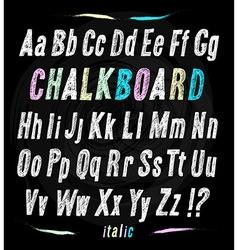 Chalkboard font Hand draw alphabet vector image