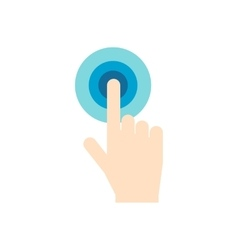 Click hand flat icon vector