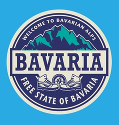 Stamp or emblem - Bavaria vector image