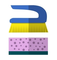 Two cleaning brushes hygiene tool vector