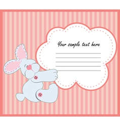 Valentine greeting card with rabbit vector
