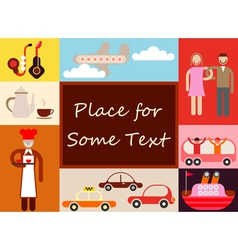 travel background 9 vector image
