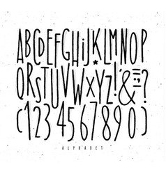 Alphabet straight lines font vector