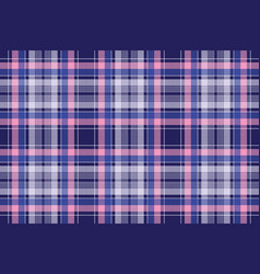 Blue pink check plaid pixel seamless pattern vector
