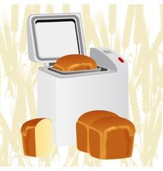 Bread oven vector image