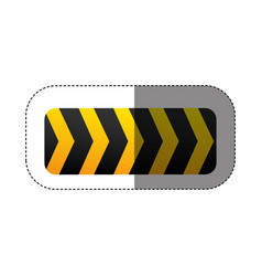 Caution ribbon sign icon vector