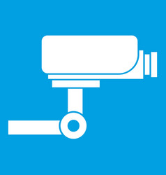 Cctv camera icon white vector