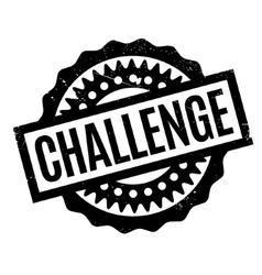 Challenge rubber stamp vector