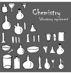 Chemistry and science elements doodles icons set vector image vector image