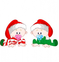 Christmas babies vector image vector image