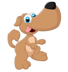 Cute dog posing vector image