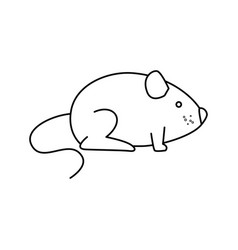 cute little mouse isolated icon vector image