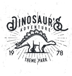 Dinosaur adventure logo concept vector