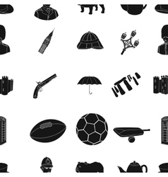 England country pattern icons in black style big vector