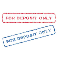 For deposit only textile stamps vector